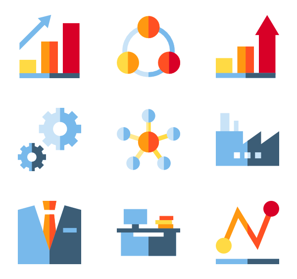 Growth vector. Graph icon packs