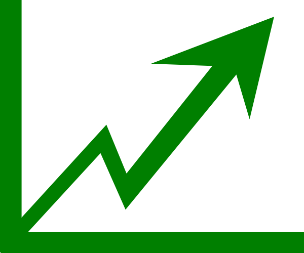 Growth vector arrow. Profit clip art at