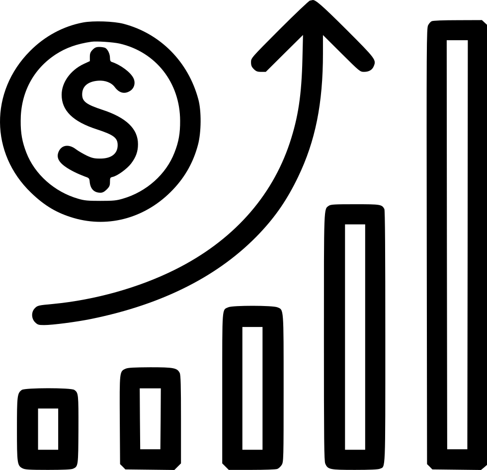 Growth vector inflation. Graph money stock svg
