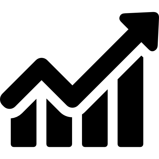 Growth vector scale. Charts icons free files