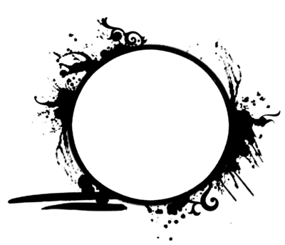 Grunge circle png. Frame by tigers