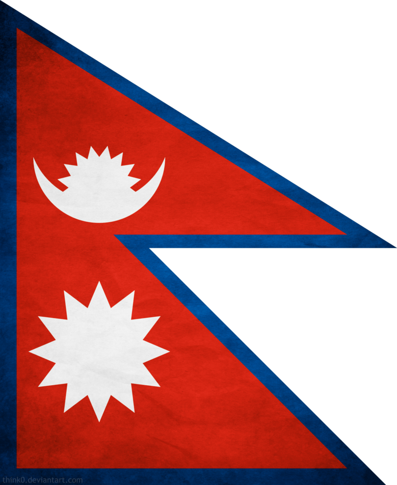 Grunge flag png. Nepal by think on