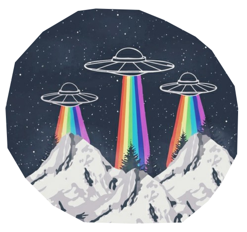 Grunge runner png. Alien rainbow and image
