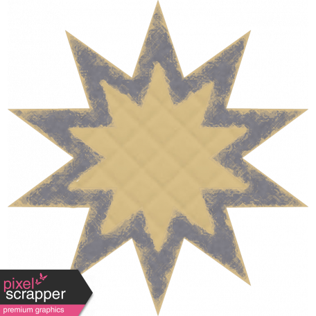 Grunge shape png. Textured star graphic by