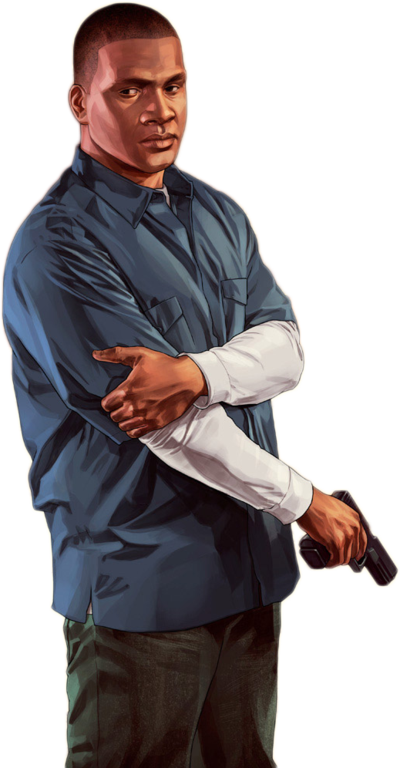 Gta 5 characters png. Render franklin by ashish