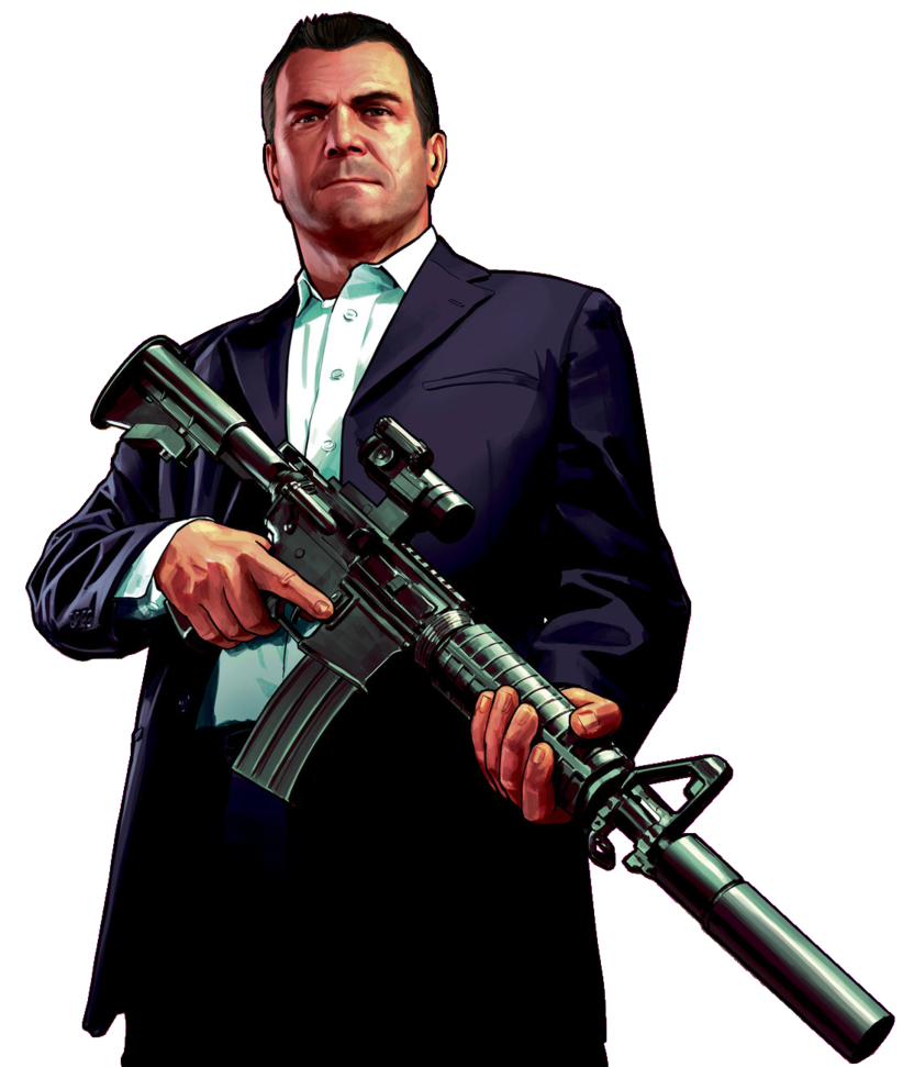 Gta 5 art png. Michael by juniorbunny on