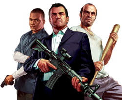 Gta 5 character png. Michael franklin and trevor