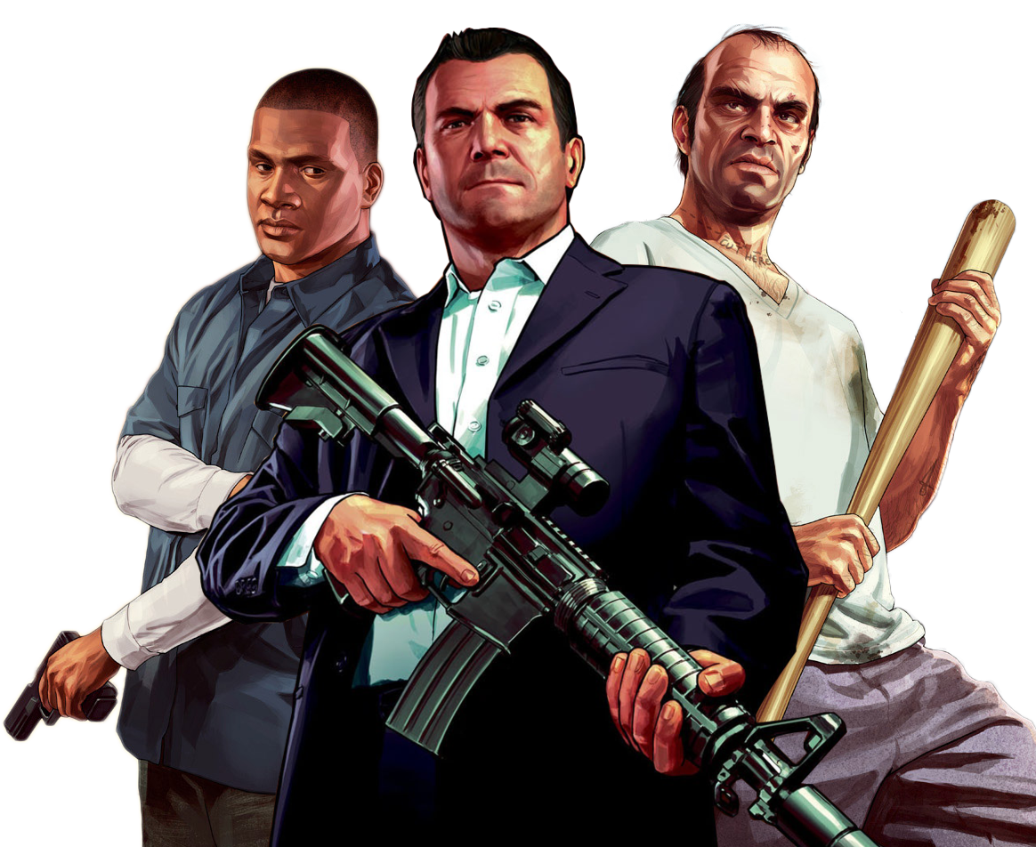 Michael gta 5 png. Trevor and franklin playstation