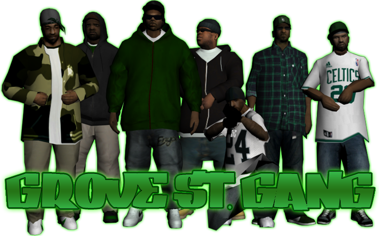 Gta 5 gang png. Grove street crews posses