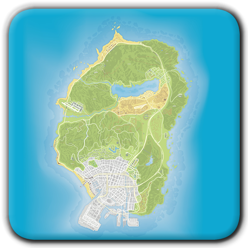 Gta 5 map png. Unofficial for apps on