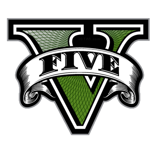 Gta 5 icon png. V five logo only