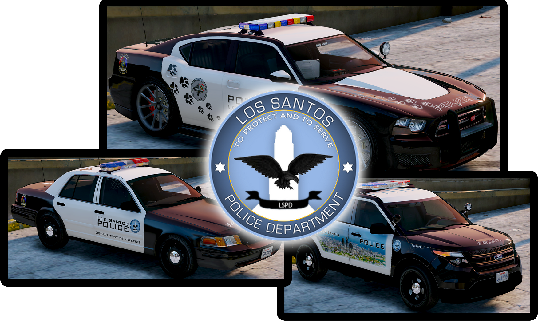 Gta 5 cop cars png. Lspd new livery pack
