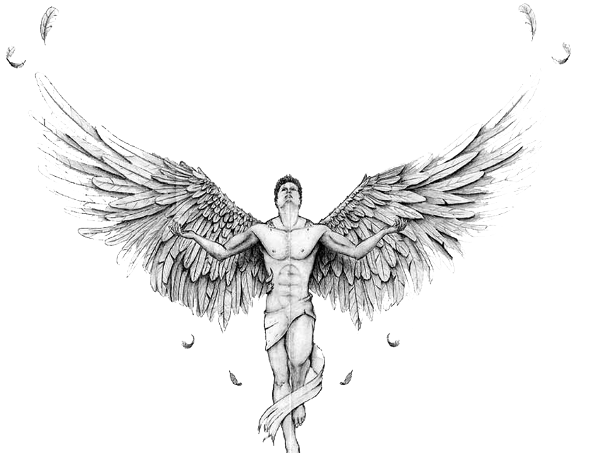 Drawing transparent angel