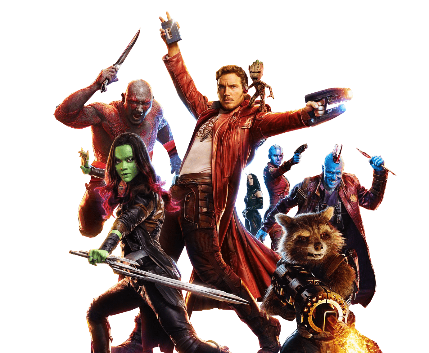 Guardians of the galaxy png. Group image transparent stickpng