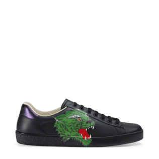 Green shoe left print png. Gucci ace sneakers for