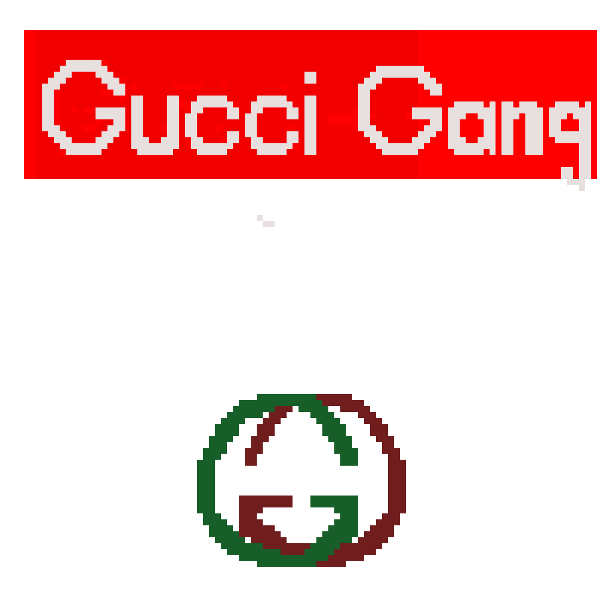 Gucci gang png. Pixilart by anonymous colors