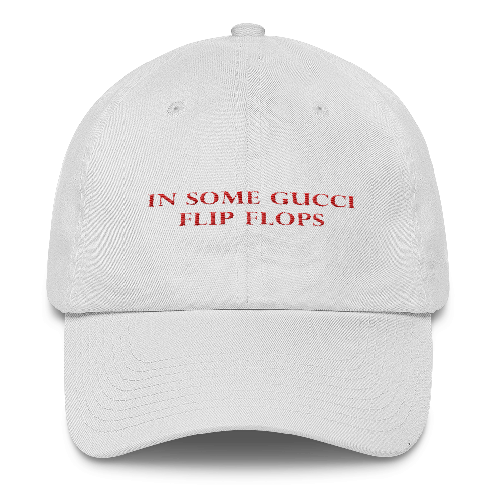 Gucci hat png. In some flip flops