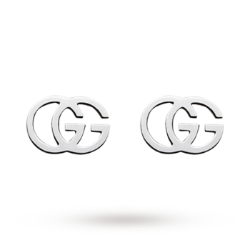 Gucci logo gold png. Icon stud earrings in
