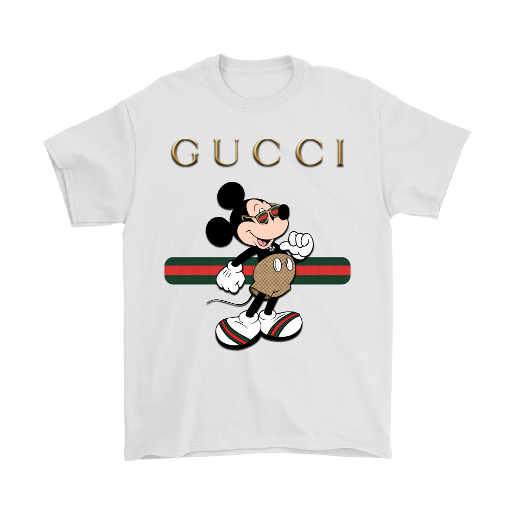 Gucci vector mickey mouse. Stripe stay stylish shirts