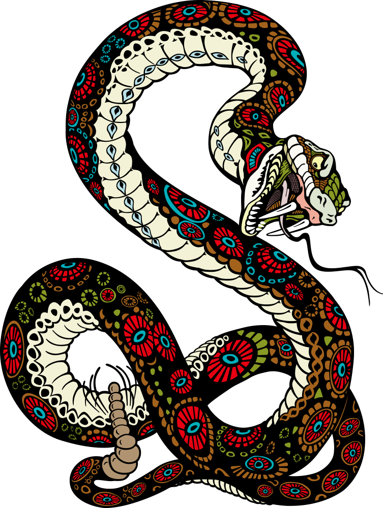 Gucci vector snake. Tiger lion illustration transprent