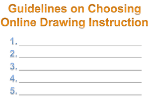 Guidelines drawing anime. On choosing online instruction