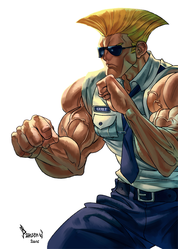 V drawing street fighter. Guile know your meme