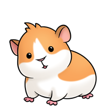 Kawaii clipart hamster. Guinea pig illustration for