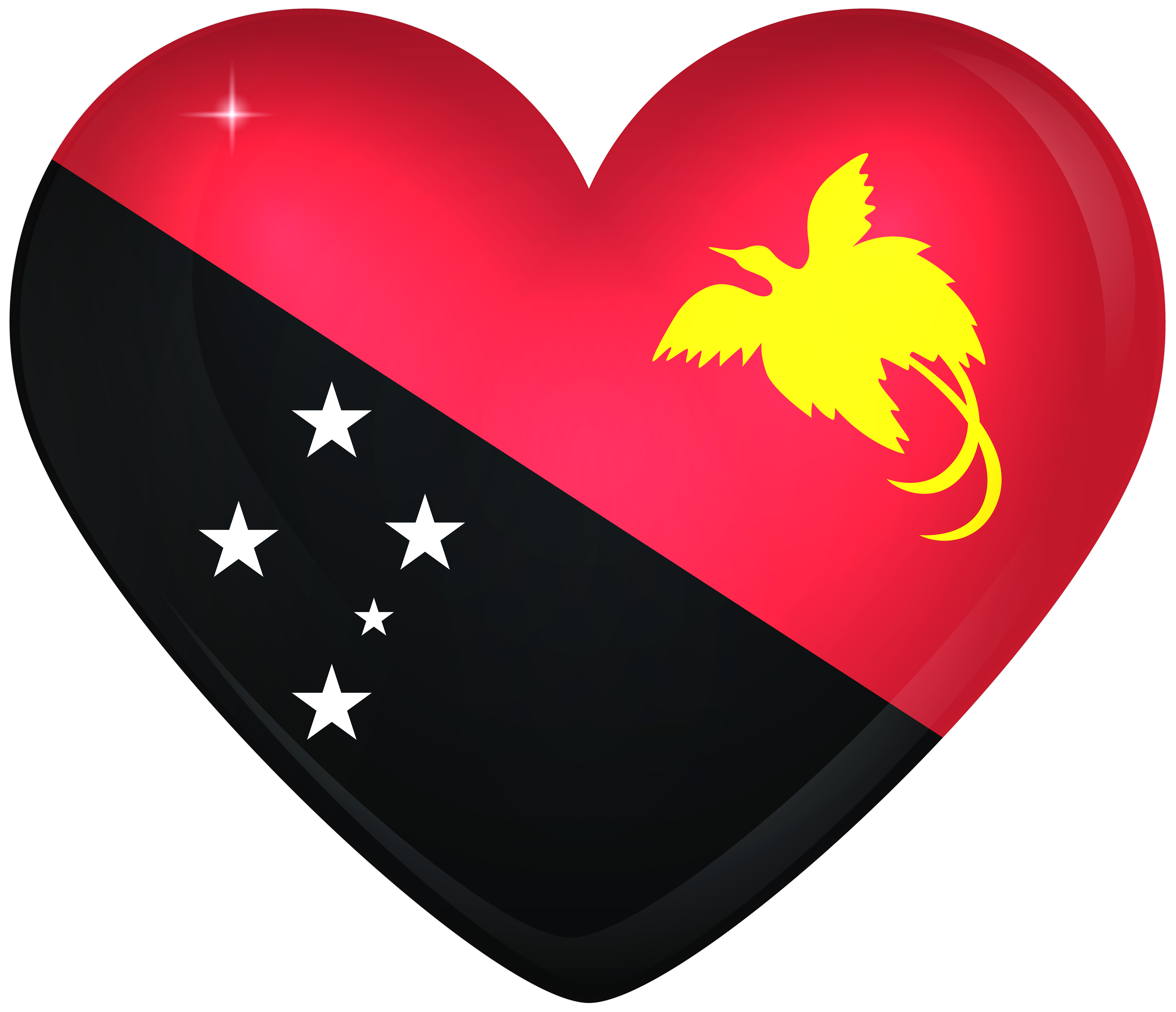 Png papua new guinea. Large heart flag gallery