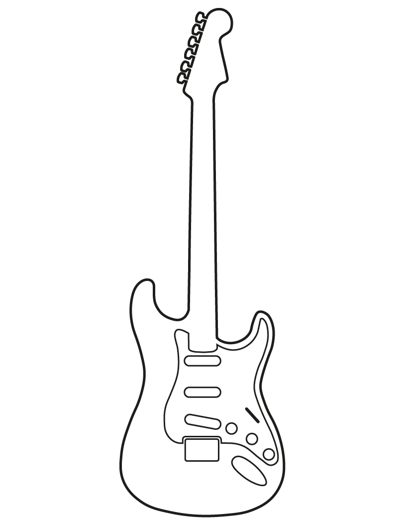 Guitar black and white png. Hiscox cases musical instrument