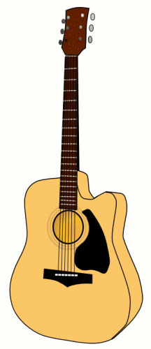 Guitar clipart cool guitar. Free music graphics accoustic