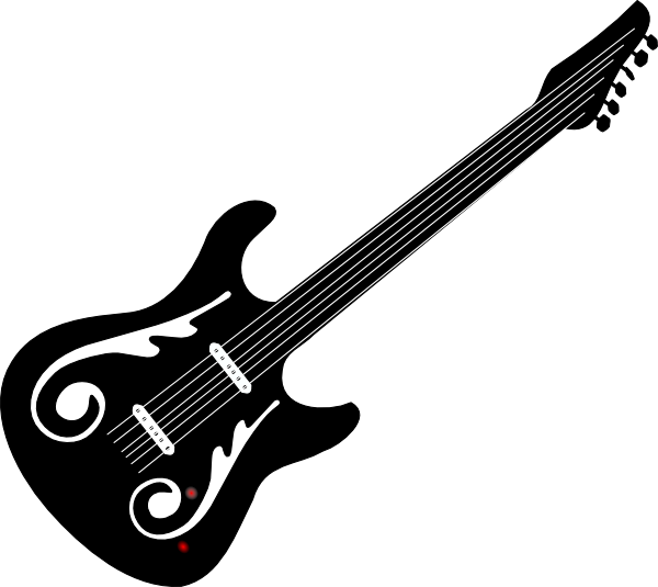 black and white guitar png
