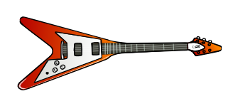 Guitar clipart cool guitar. Free music graphics flying