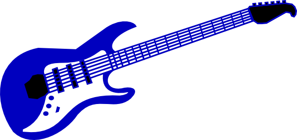 Guitar clipart heart. Blue