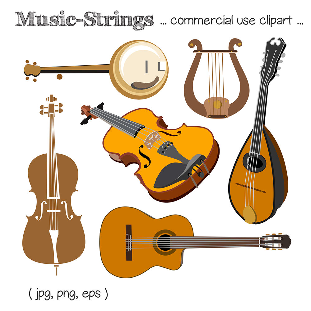 Guitar clipart string instrument. Music