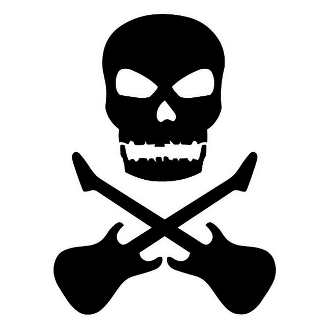 Guitar clipart symbol. Cm skull and