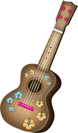 Guitar clipart tropical. Png hawaiian clip