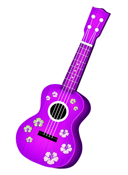 Guitar clipart tropical. Hawaiian aloha dibujos cool