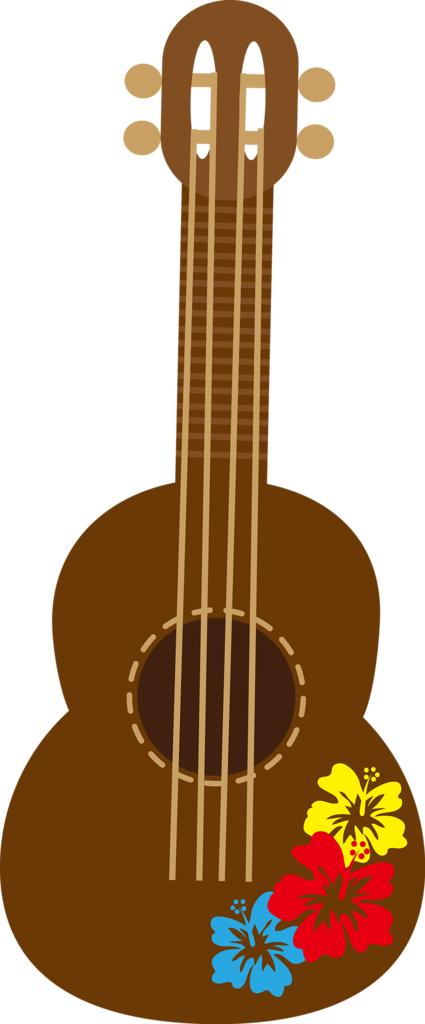 Guitar clipart tropical. Cg png hawaiian moana