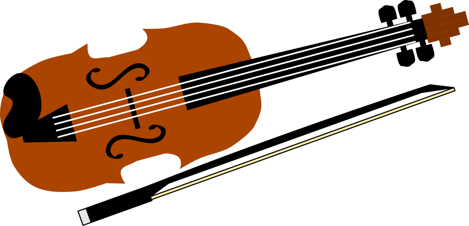 Instruments clipart string instrument. Violin double bass bowed