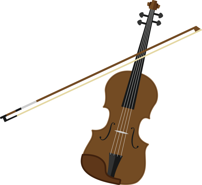 Bass double string instruments. Guitar clipart violin banner