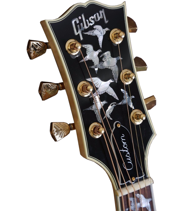 Guitar headstock png. Gibson doves in flight