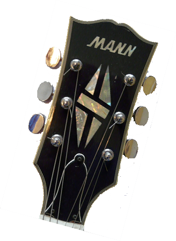 Guitar headstock png. Mann guitars
