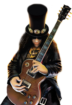 Guitar hero png. The girl console and