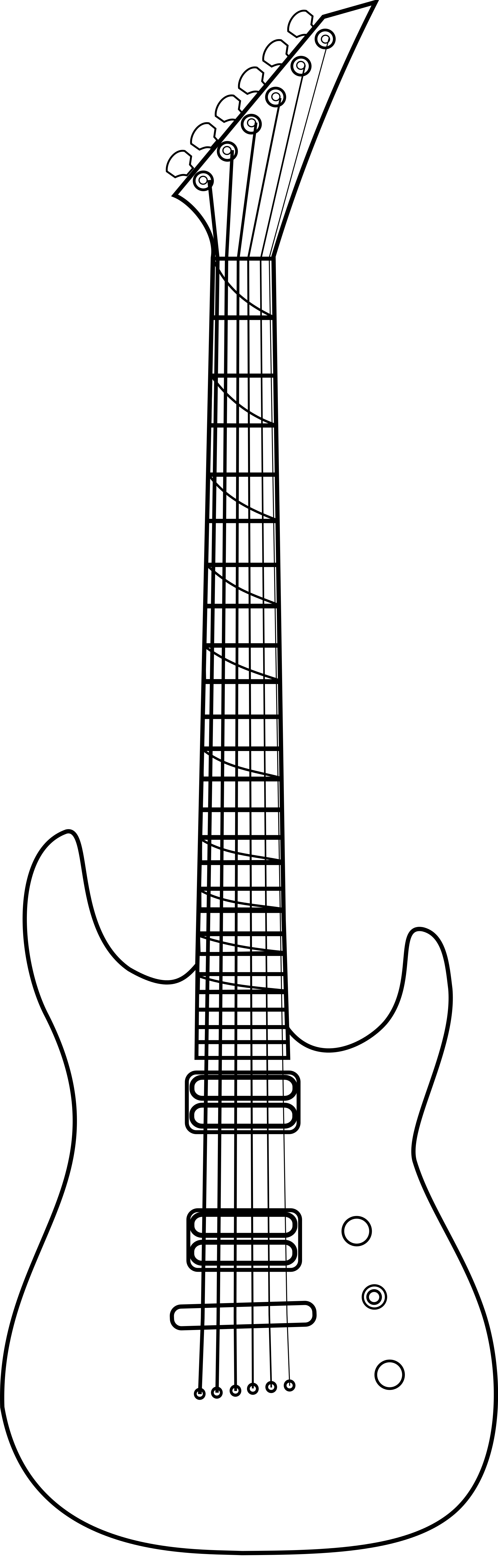Guitar outline png. File jackson soloist shape