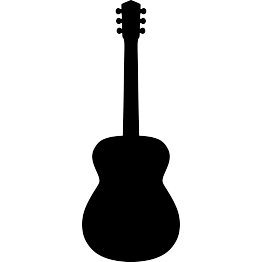 Guitar silhouette png. Free svg acoustic reduce