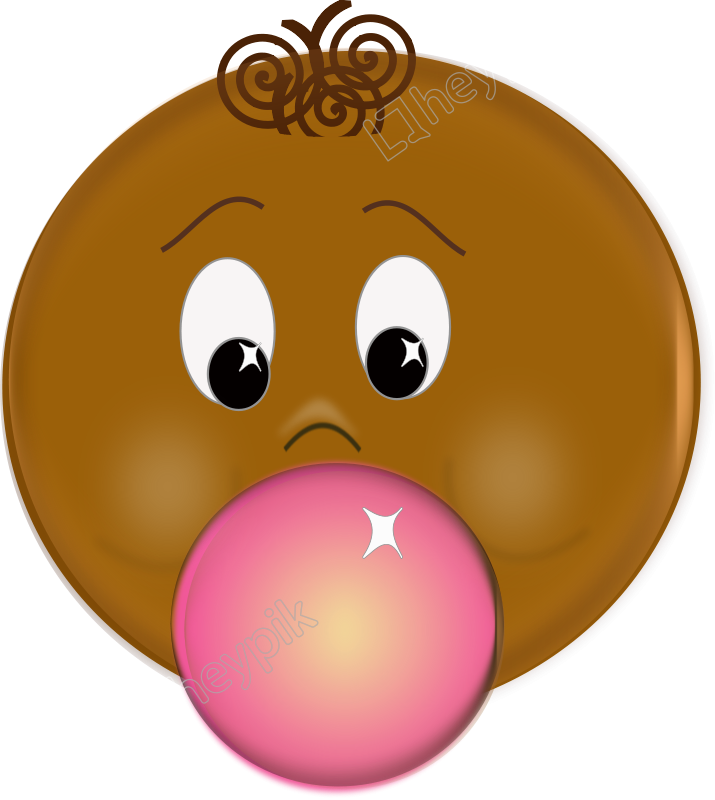 Gum drawing animated. Bubble free svg download