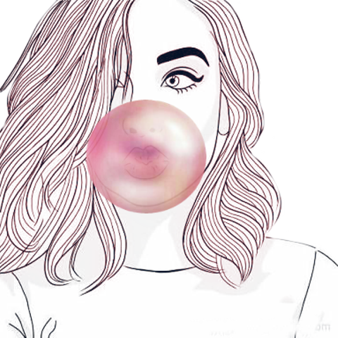 Gum drawing draw. Bubble sticker challenge on