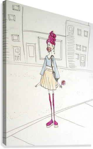Gum drawing stretched. Bubble girl madeleine sibthorpe