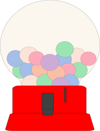Gum drawing gumball dispenser. Free machine cliparts download