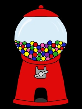 Gumball machine clipart. Clip art by denise